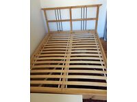 Wooden slatted ikea bed - barely used