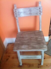 Oak chair for sale. Shabby chic.