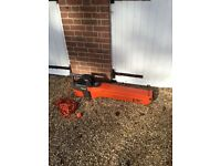 Flymo garden Vac/Blower, very good working order and condition, electric, with leaf holder bag