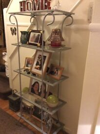 Metal and glass unit/ shelves