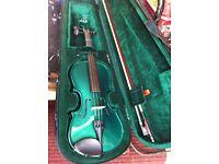 Rainbow violin in green