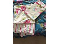 Single shabby chic quilt cover and pillow case