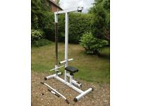 Plate Loaded Lat Pulldown Machine with Attachments (Delivery Available)