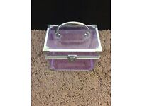 Vanity, cosmetic, makeup, beauty case purple