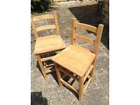 Wooden Breakfast Bar High Chairs