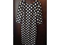 Brand new ladies polka dot V Back dress size 14
