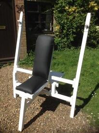 Military Press Commercial Bench with Spotting Platform (Delivery Available)