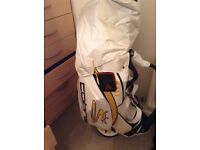Full set of golf clubs tour bag tailor made irons ,titliest clevland wedge , burner 3 wood