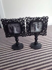 Vintage style photo frames pair