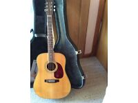 Original earth 200 tanglewood acoustic with unique hard case croc effect