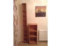 Ikea Billy Bookcase and Ikea Benno Storage Tower in Beech