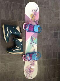 Women's snowboard set up