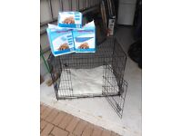 Ellie-Bo dog cage folding 2 door crate with non chew tray