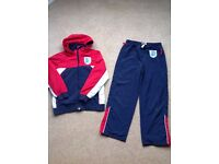 Age 9-10 England tracksuit (£5) & training top (£3)