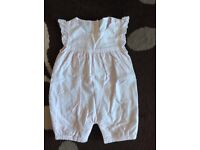 Baby girl romper suits up to one month