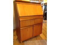 1970s writing bureau/ drawers/ cupboard -veneered