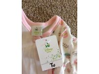0-1 month newborn brand new 2 baby grows and two piece outfit