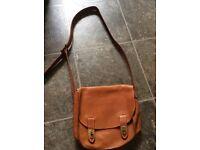 Fossil tan medium satchel bag