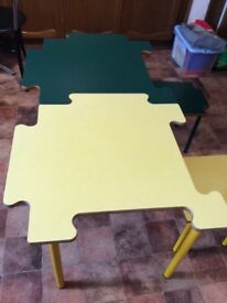 Kids tables and chairs jigsaw unisex