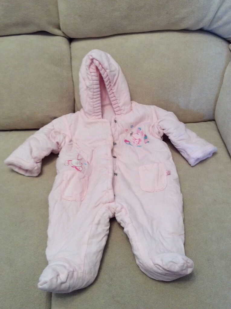 Pink Newborn Snowsuit - Marks and Spencer