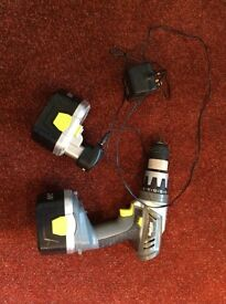 24 volt cordless drill, charger and spare battery