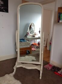 Lovely Free Standing Mirror - shabby chic style