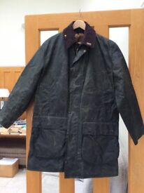 Barbour Border wax jacket with lining - A200 c40/102cm - green