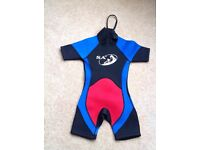 2 short wetsuits (age 3-4 and age 5) St Andrews