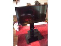 "43""HD tv & glass tv stand"