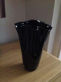 Black glass vase
