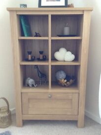 Next oak effect bookshelf drawer / unit Malvern range - relatively new