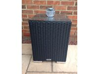 Black Rattan Direct Side Table