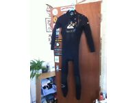 Quicksilver Wetsuit with Boots (size 9)