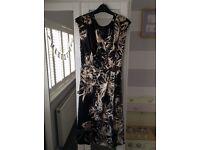 Black Floral evening or wedding Dress size 22