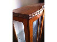 Ornate Vintage Display Cabinet Glazed Bookcase Shelving Unit