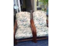 Two Conservatory Armchairs