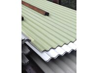 Corrugated roofing/cladding mixed colours & sizes