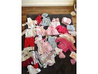 Baby girls' clothes bundle up to 3 mths - next, mini club, dkny...