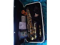 Trevor James Alto Saxophone - Black Nickel Body + Gold Lacquer