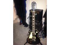 Epiphone Les Paul standard left hand black guitar