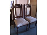 Project! 2 Antique Chairs for Refurbishment / Can Deliver