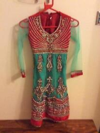 Girls anarkali dress size 28