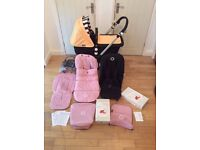Bugaboo Cameleon 3 Pram/Pushchair with Soft Pink & Sunny Gold colour packs. Very good condition