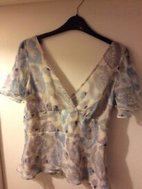 Women's 100% Silk top from Oasis Size 12-14