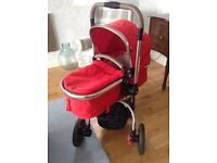 ***New style Mothercare red Orb pram buggy**