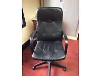 Comfortable Black Leather Office Chairs
