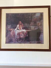 The Lady of Shalott framed print.