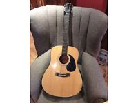 Acoustic guitar-6 strings (steel) hardly used - vgc, lovely tone