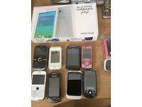 14 mobile phones some are new and some are old swap for car
