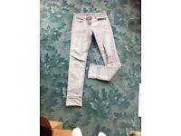 Grey skinny jeans size 8